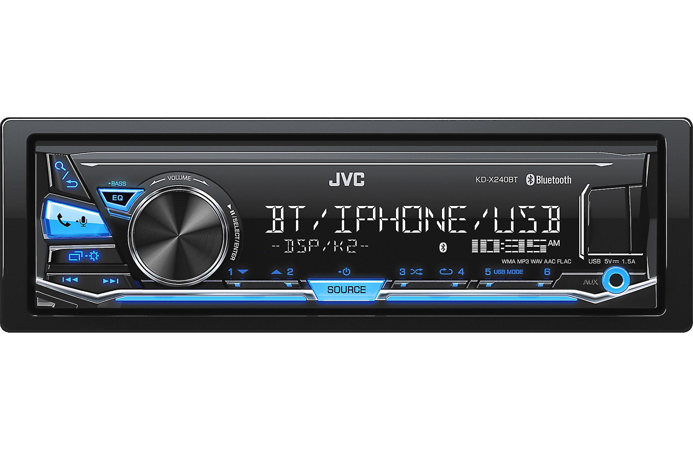 JVC KDSX24BT Digital Media Receiver no CD s w Built in Bluetooth USB and Detachable Face plate Walmart