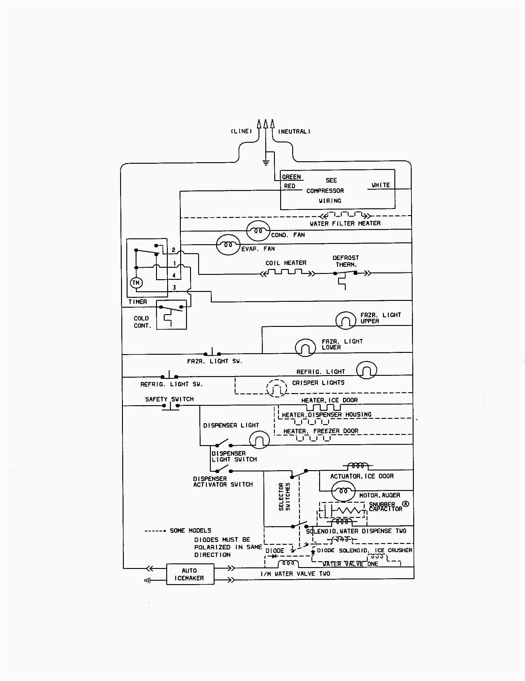 Kenmore Refrigerator Wiring Diagram For Amazing And Ice Maker
