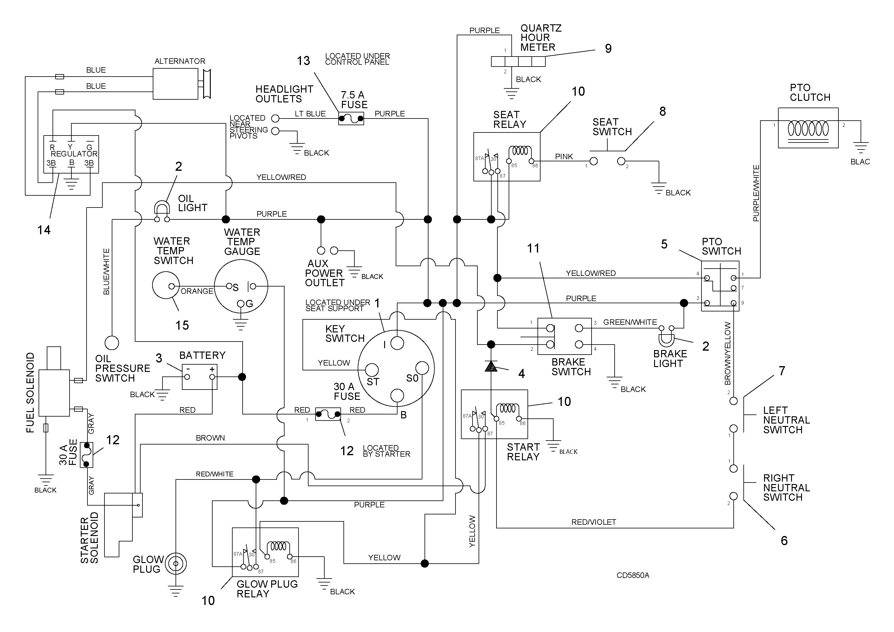 Kubota Glow Plug Wiring Diagram Image 1985 Chevy Yanmar Alternator Fresh Atemberaubend Starter Schaltplan Bilder Serie