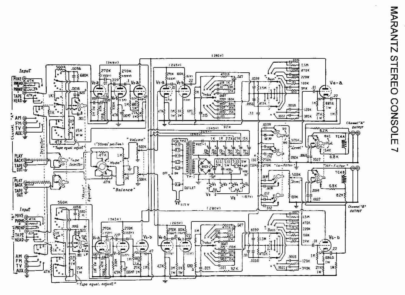 Marantz Console 7 Vacuum Tube Power Amplifier