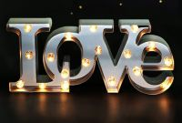"Marquee Letters with Timer Awesome Amazon Bright Zeal 7"" Tall Led Love Marquee Sign Letters"
