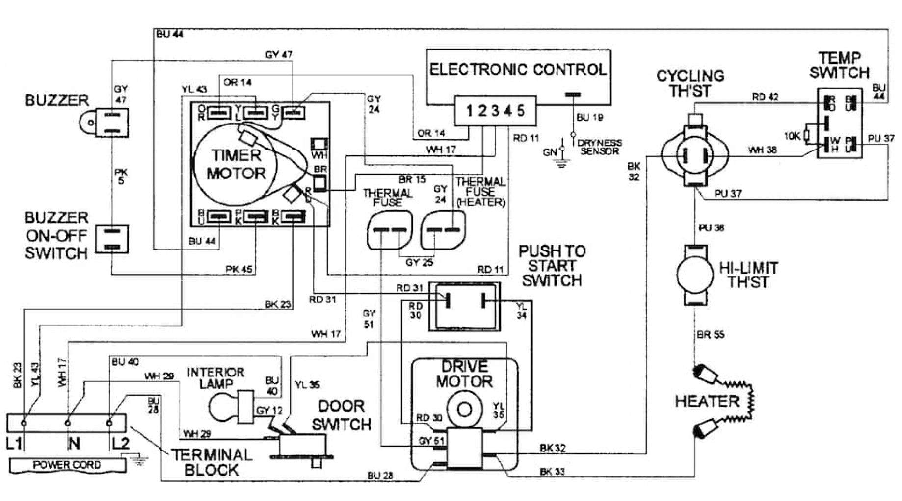 maytag dryer wiring diagram wiring diagram image rh mainetreasurechest com wiring diagram for dryer outlet wiring diagram for dryer outlet