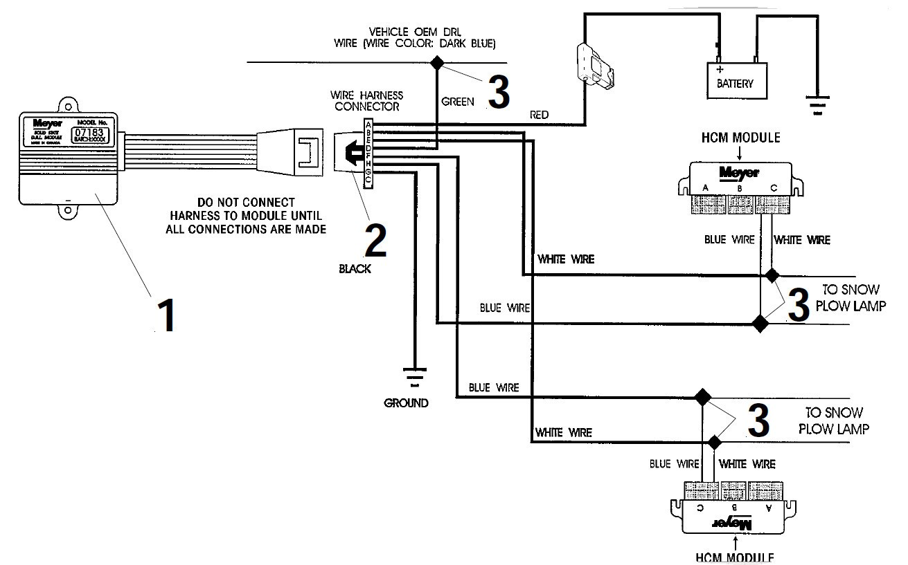 Meyer Snow Plow Wiring Diagram Me que Light Highroadny For