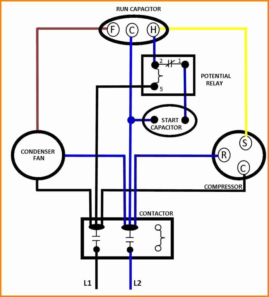 Electric Motor Capacitor Wiring Diagram Unique 15 Run Capacitor Wiring Diagram