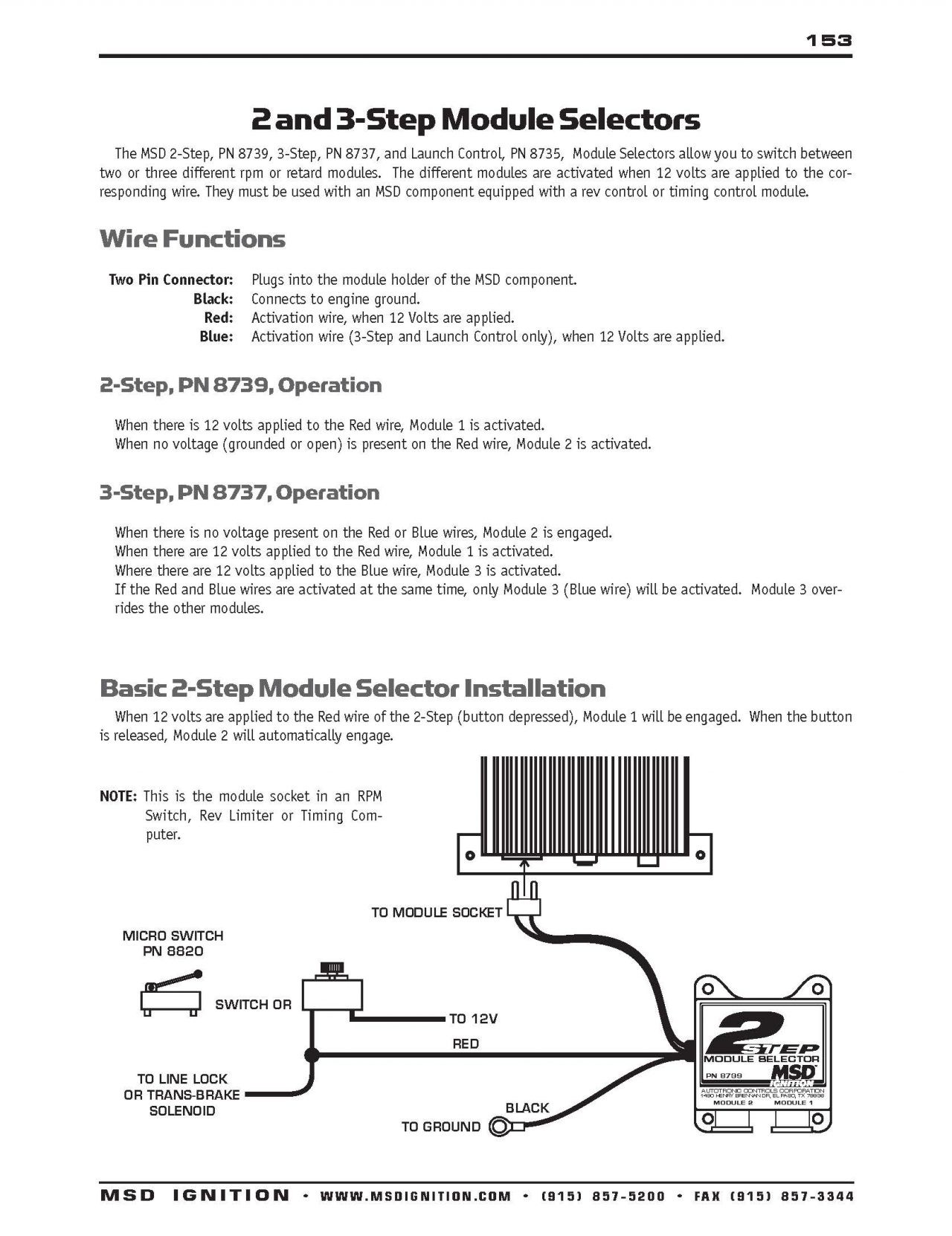 Msd 3 Step Wiring Diagram New Two
