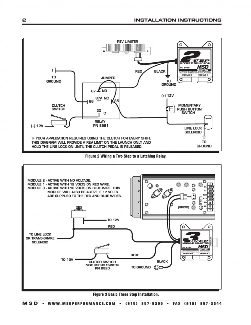 msd two step selector module wiring diagram