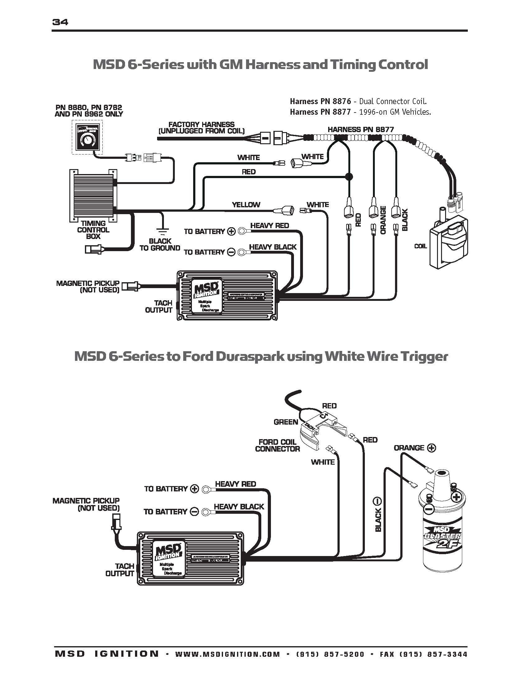 Wiring An Msd With Diagram For 6al Distributor WIRING DIAGRAM Prepossessing Pro