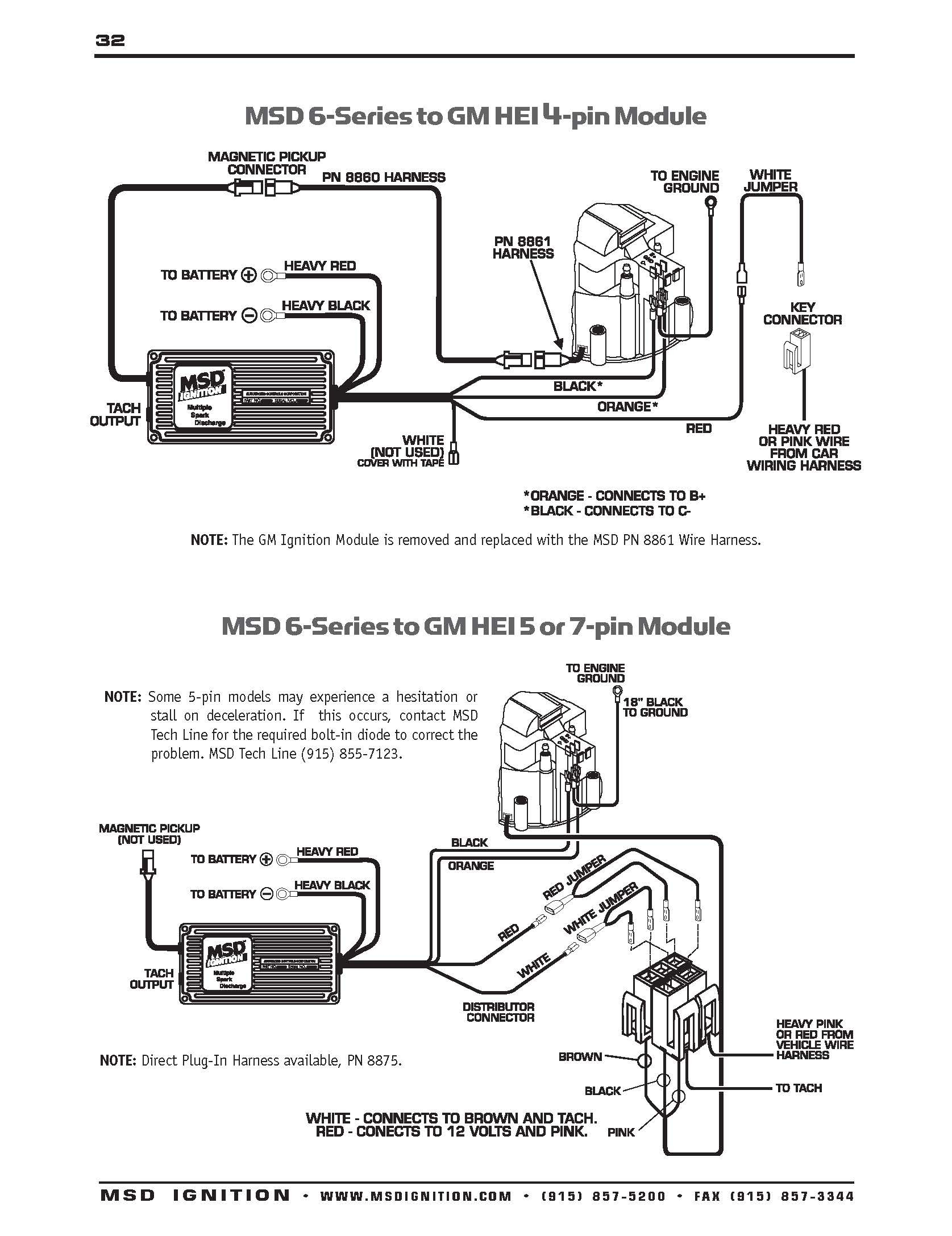 Msd Ignition Wiring Diagrams Throughout 6a Diagram To Distributor