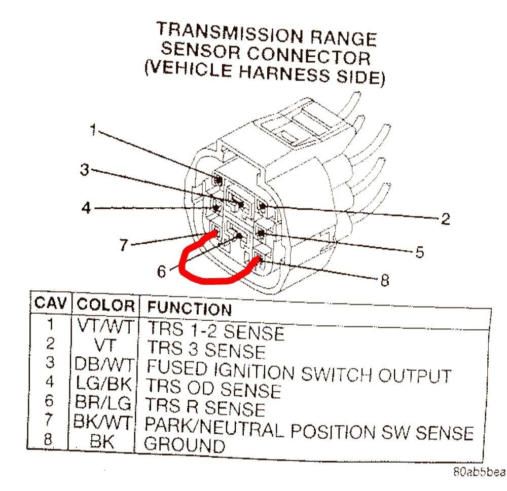 ford c6 neutral safety wiring