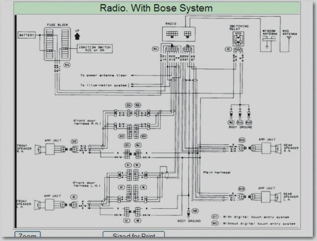 2001 Nissan Frontier Wiring Diagram Maxima Radio