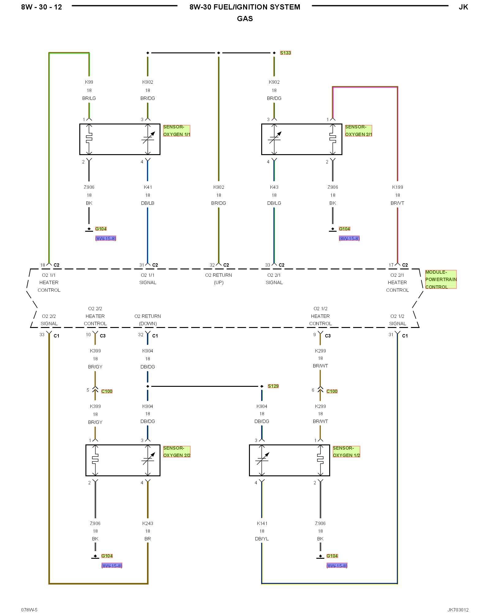 Chevy O2 Sensor Wiring - Wiring Diagram
