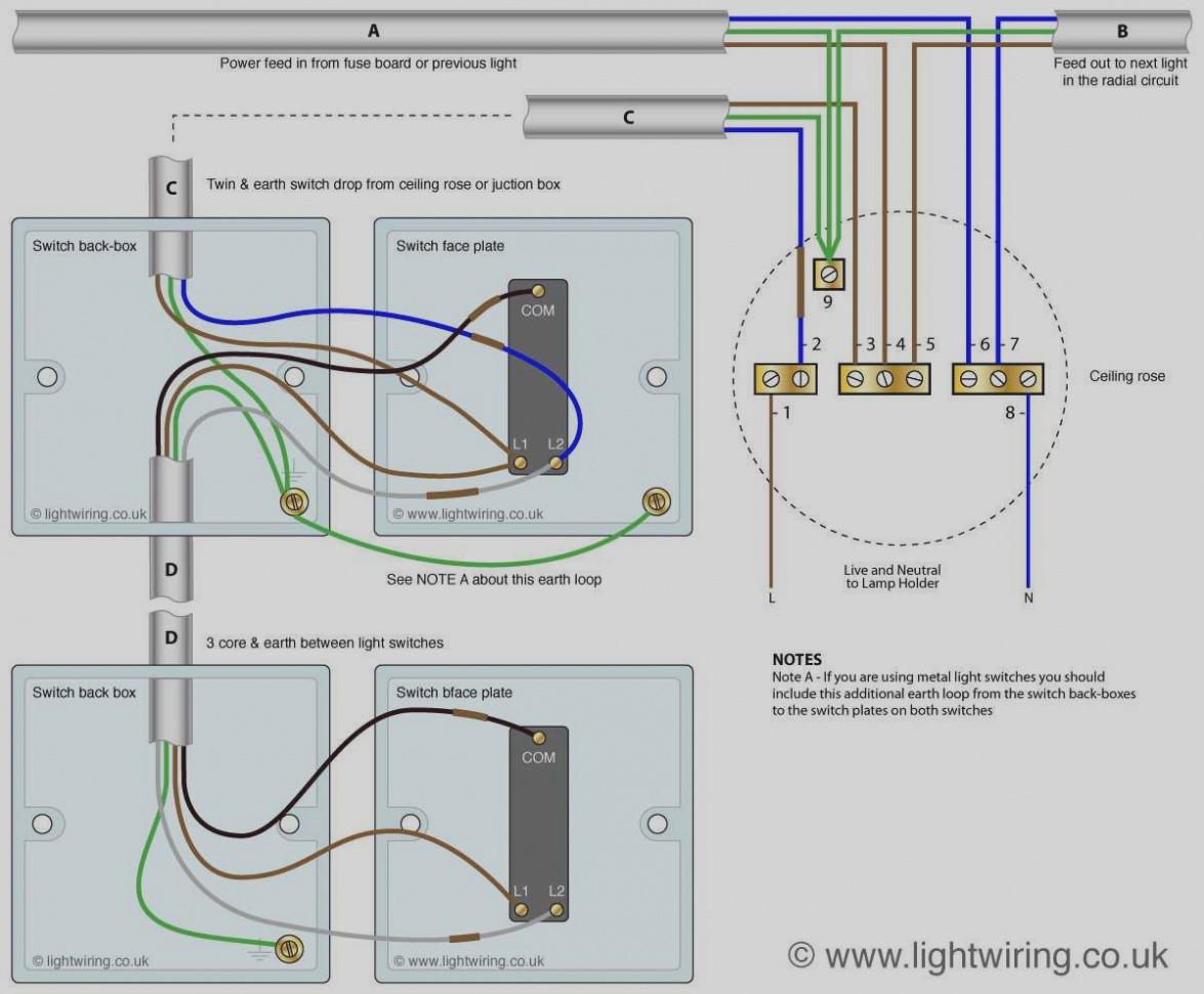 One Switch Two Lights Wiring Diagram | Wiring Diagram Image