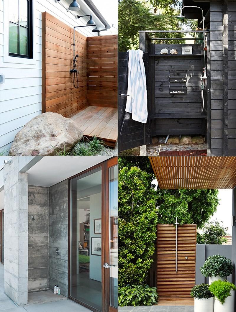 Corrugated Metal Outdoor Shower – Cool Home & Design Archives Bleubird