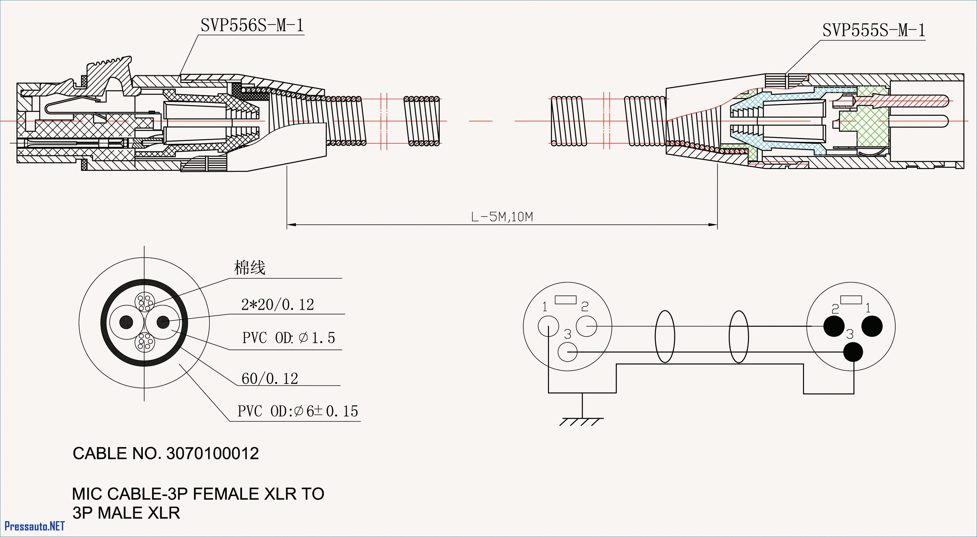 3 Wire Microphone Wiring Diagram Xlr Connector Inside