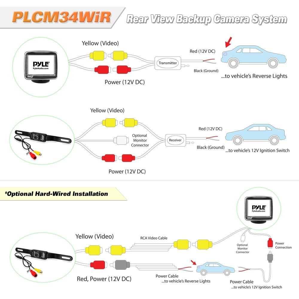 pyle backup camera wiring diagram 7500 kogan wireless rear view reversing camera wiring diagram ... pyle backup camera wiring diagram