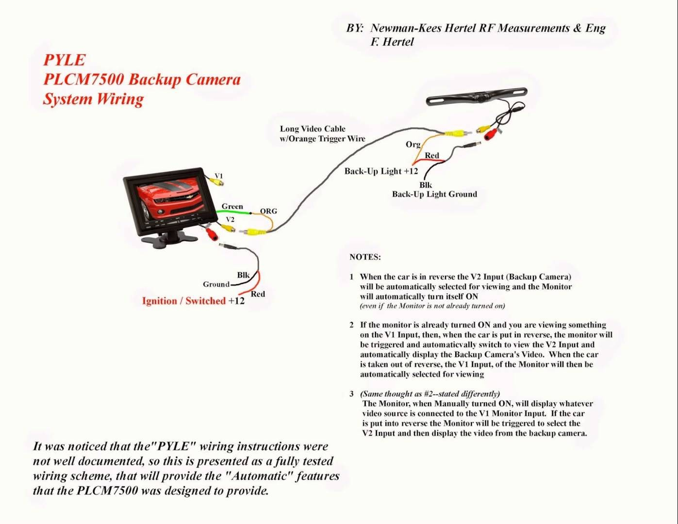 Car Monitor Wiring Diagram Electrical Drawing Auto Video Plcm7500 Image Rh Mainetreasurechest Com Diagrams For Cars 2009 Club