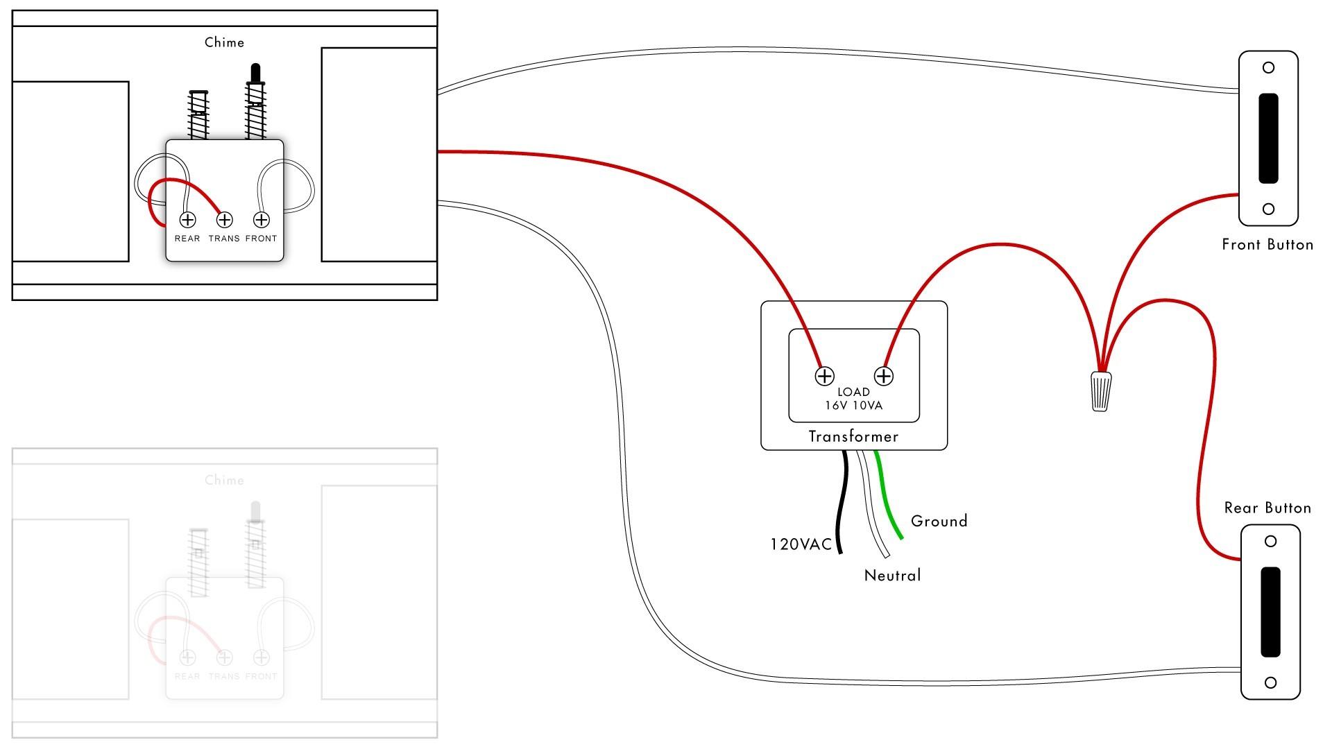 Simple Wiring Diagram For House Save Doorbell Diagrams Diy Best Transformer