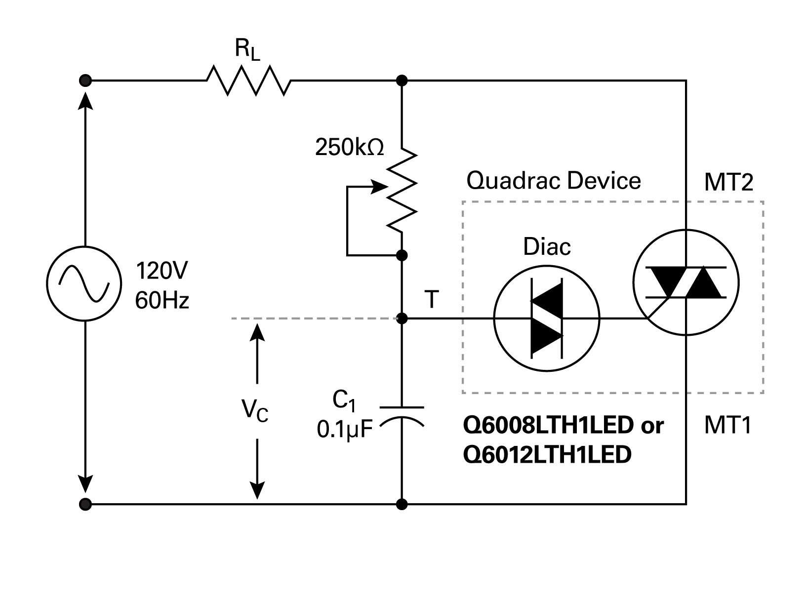 Simplifying Solid State Lighting Control In This Quadrac Based Dimming Circuit The Potentiometer Is With Built