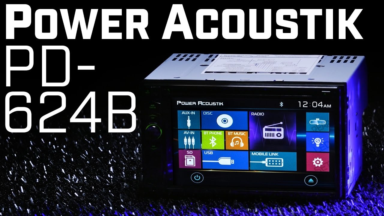 Power Acoustik PD 624HB Double DIN Bluetooth Stereo with HDMI