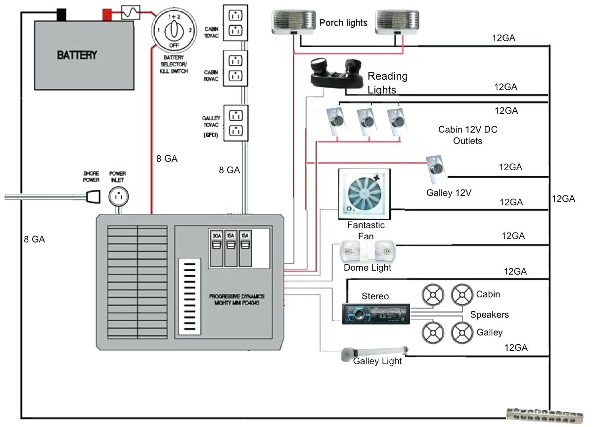 Power Converter Wiring Diagram Coleman Cts15 - Example Electrical ...