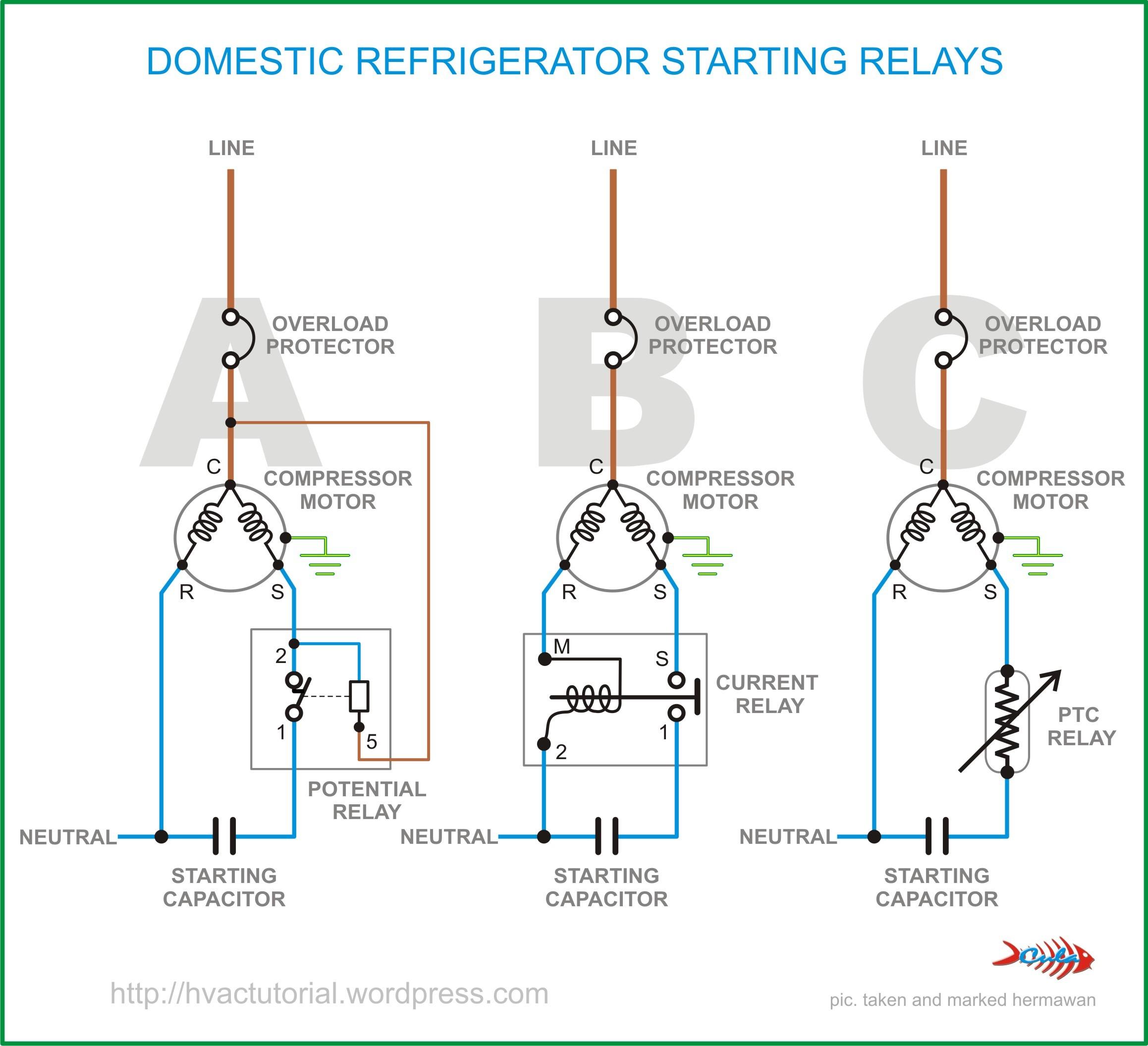 Domestic Refrigerator Starting Relays Random 2 Fridge pressor Wiring Diagram