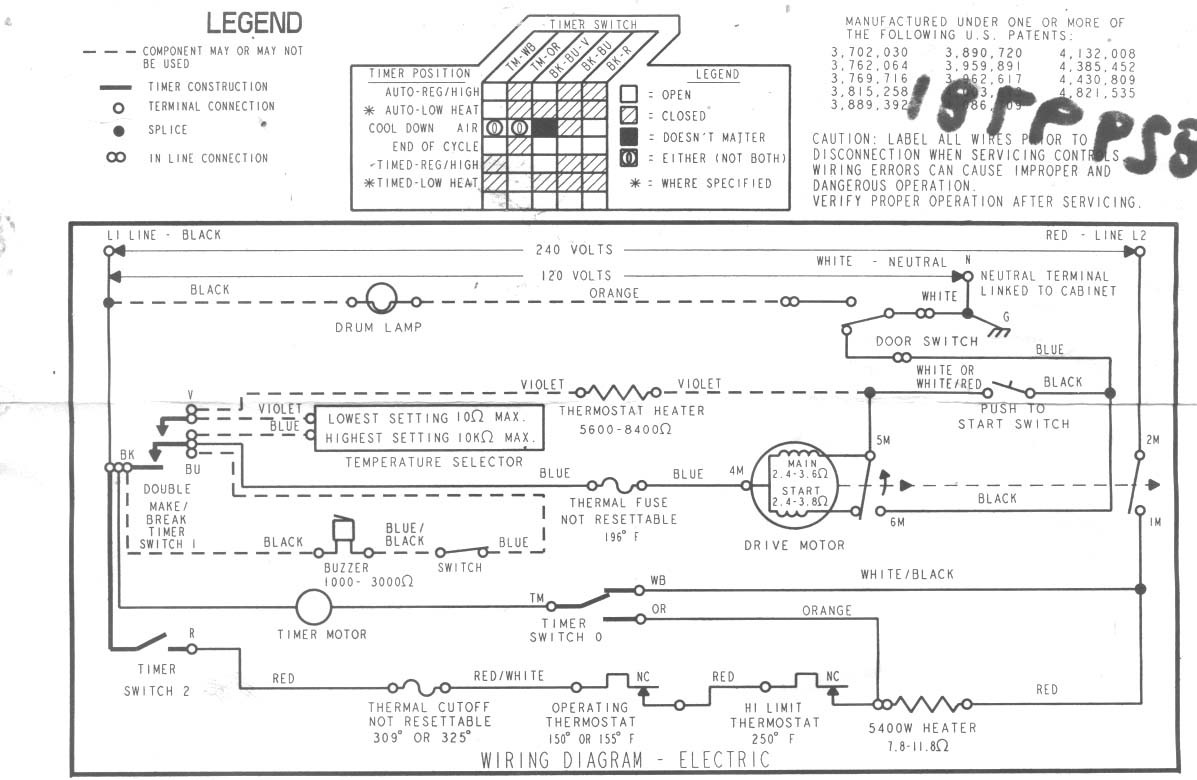 Dryer Wiring Diagram Whirlpool Ler4634 | Wiring Liry