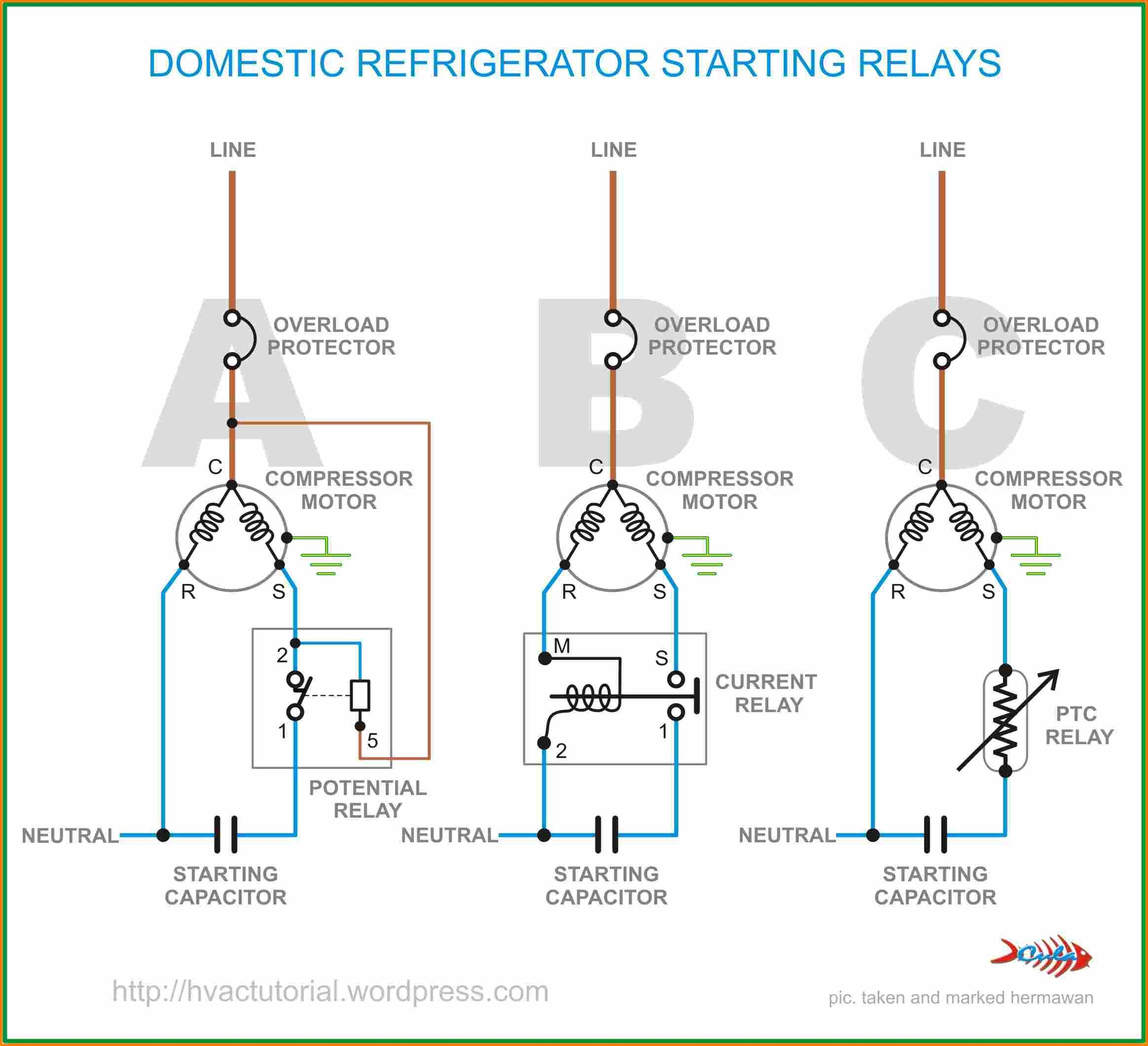 WRG-4669] Hard Start Capacitor Run Wiring Diagram on