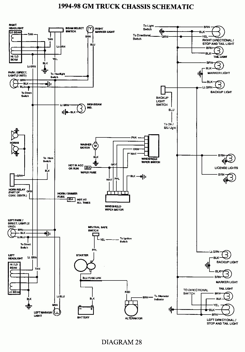 86 Chevrolet Truck Fuse Diagram - Wiring Diagram Networks
