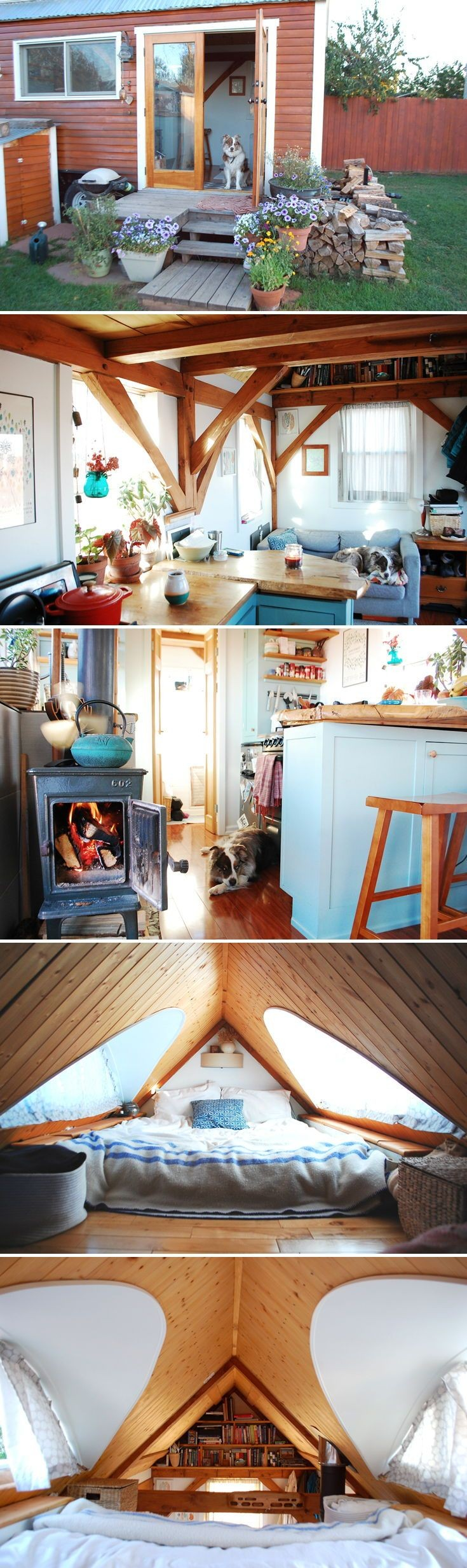 The Tiny Timber House is an 18 foot tiny home built on wheels It