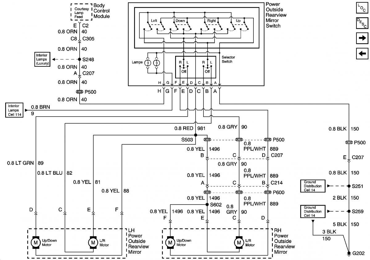 1999 Tahoe Power Mirror Wiring Diagram GM Forum Buick Cadillac Bright