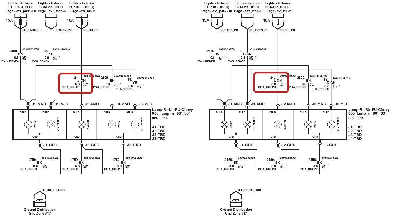 silverado tail light wiring diagram wiring diagram image rh mainetreasurechest com Chevrolet Silverado Trailer Wiring Diagram Chevrolet Silverado Trailer Wiring Diagram