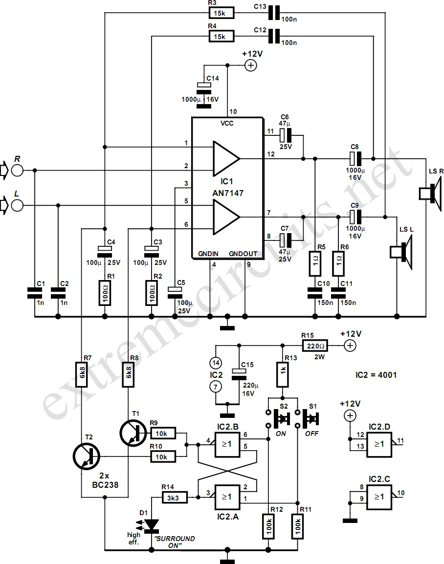 Speaker Volume Control Wiring Diagram Awesome Image Loudspeaker 5 3w Amplifier With Surround System