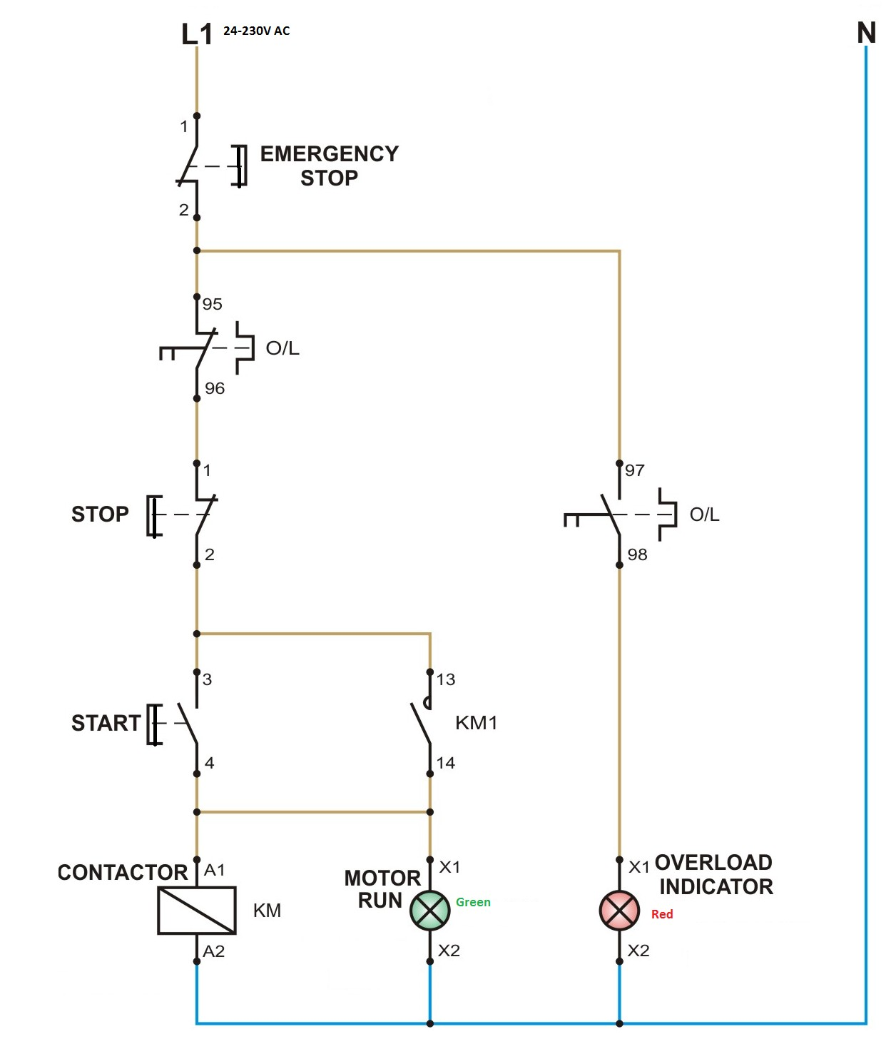 Star Delta Starter Control Circuit Diagram Wiring Image 5 Three Phase Induction Motor And Its Opperation Single Dol Ckt
