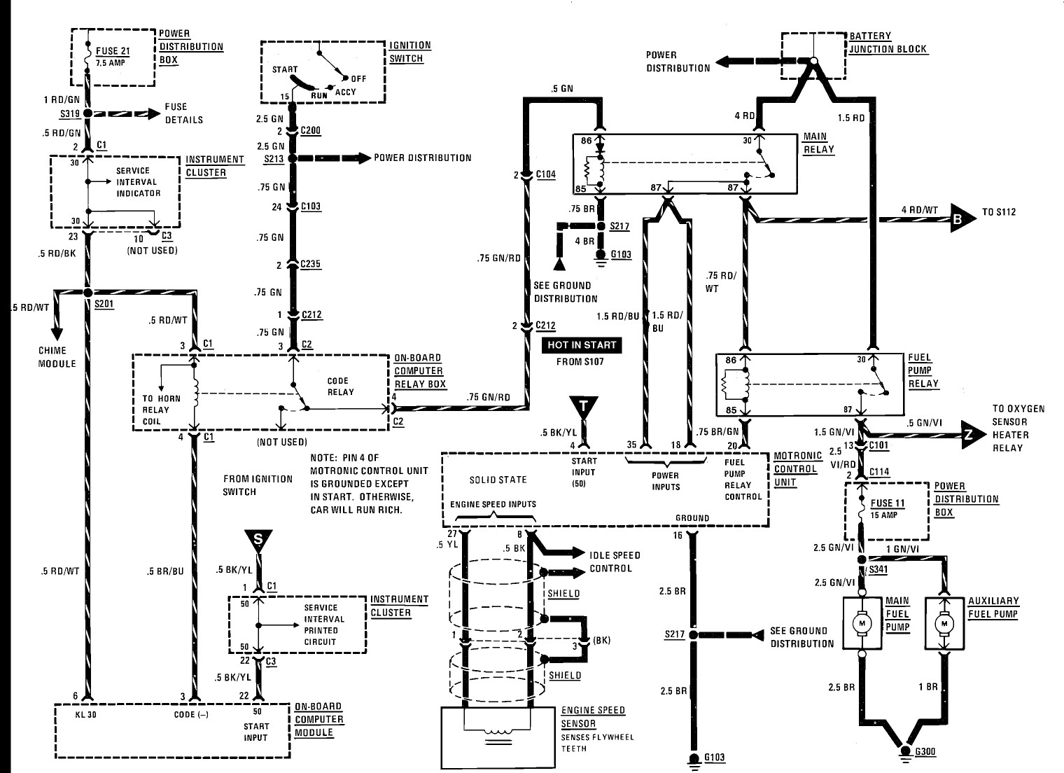 bmw start wiring diagram