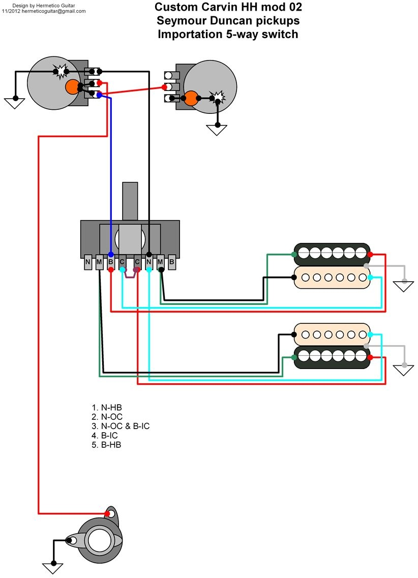Prs Hfs Pickup Wiring Diagram Solutions Diagrams In Addition On Seymour