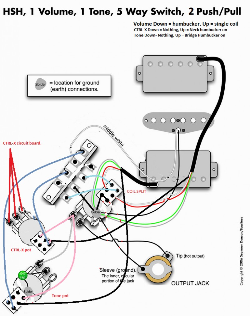 push pull wiring diagram fender