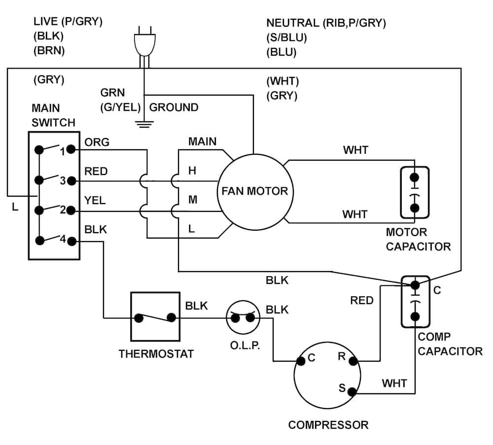 Swamp Cooler Plug Wiring Diagram Diagrams Schematics Within Switch
