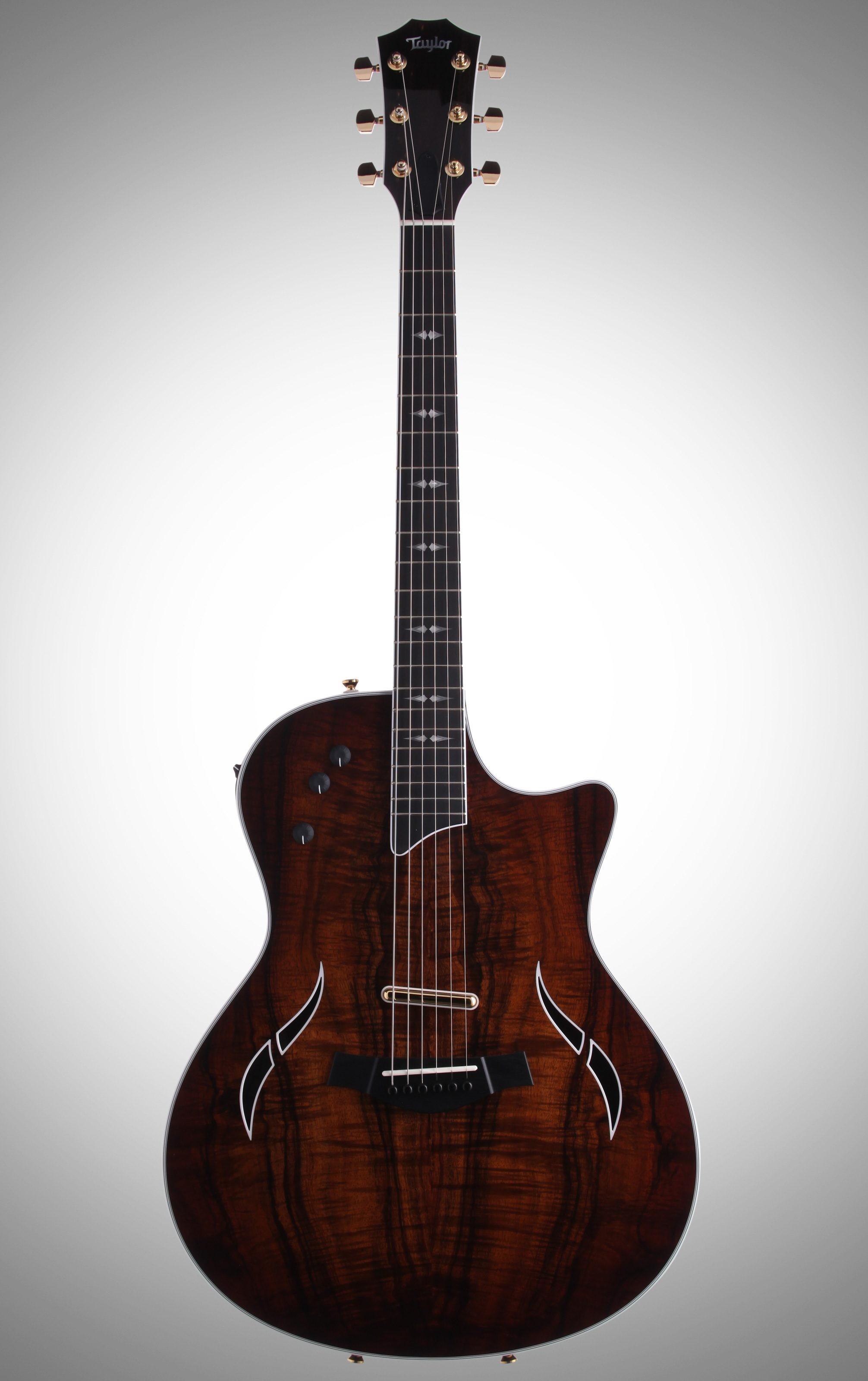 Taylor T5 C2 Thinline Fiveway Custom Koa Cutaway Acoustic Electric Guitar with Case