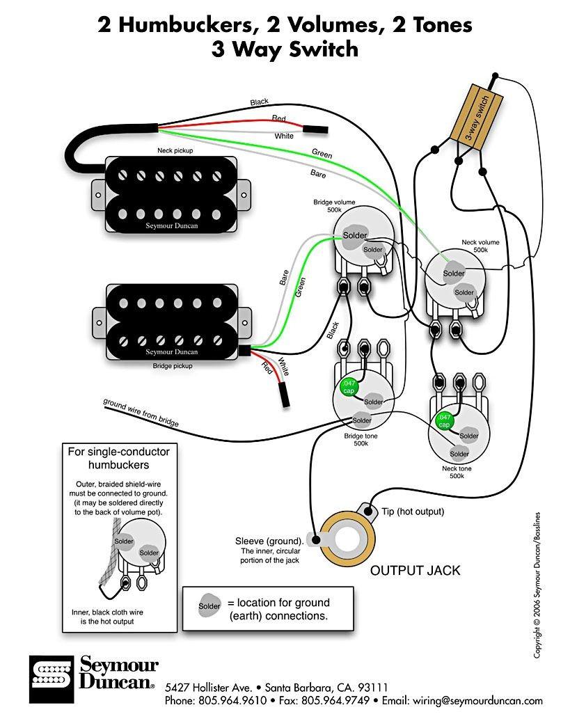 Telecaster 3 way wiring elegant wiring diagram image wiring diagram for 2 humbuckers 2 tone 2 volume 3 way switch i e traditional lp set swarovskicordoba Image collections