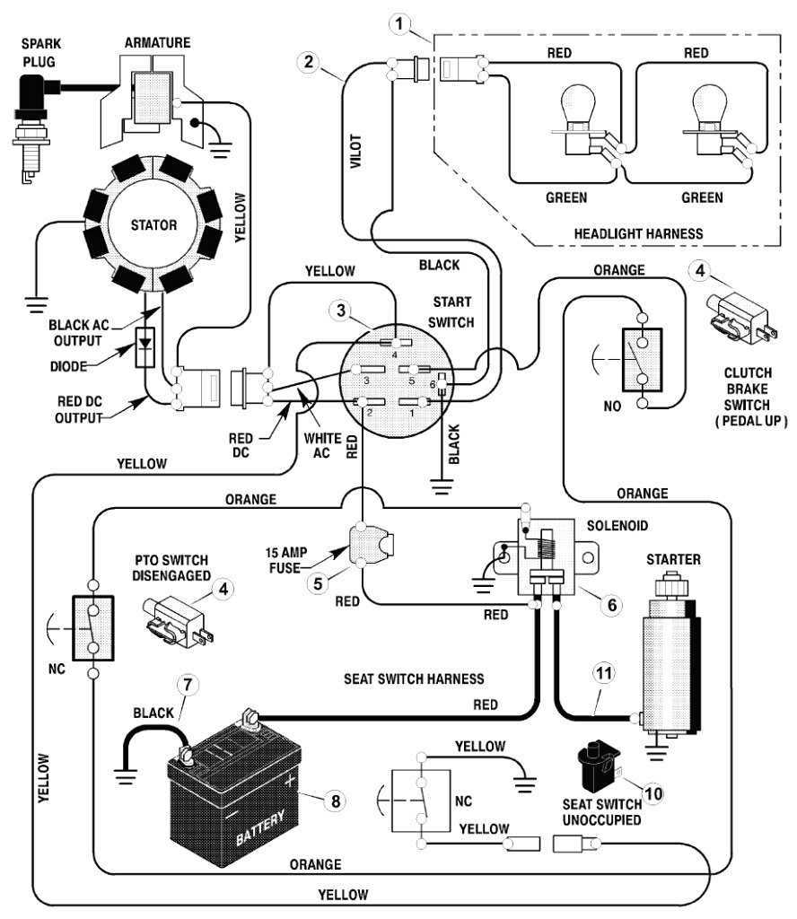 Lawn Mower Ignition Switch Wiring Diagram Unique Ignition Switch Wiring Diagrams Ac Schematic Diagram New Lawn