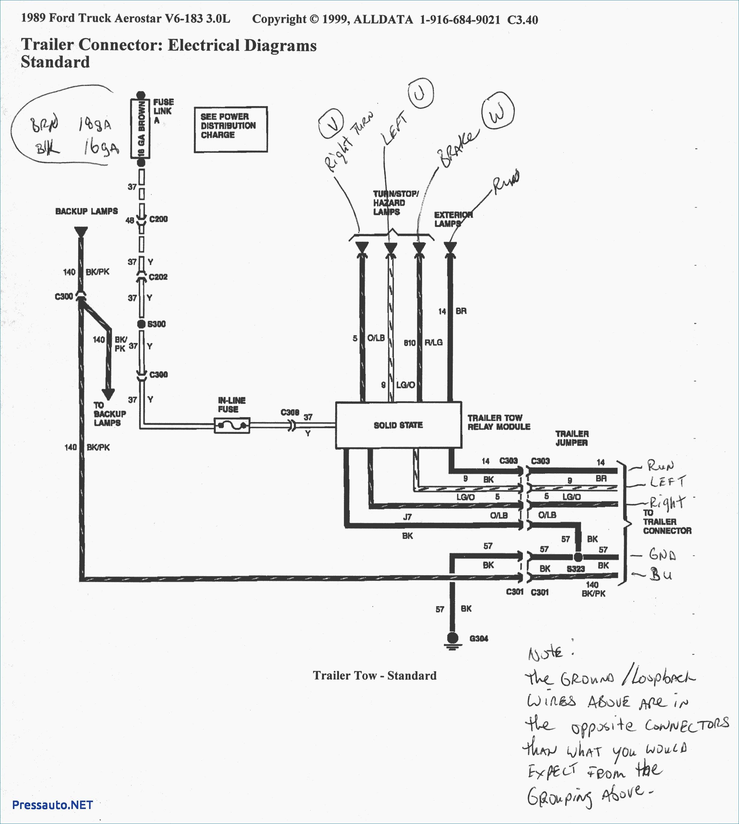 Pickup Trailer Wiring Diagram Download Free 7 Pin Plug Fit 2464 2c2747 Ssl 1