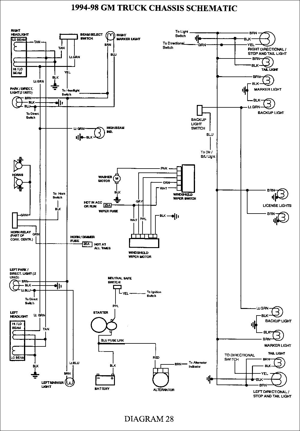 truck trailer wiring diagram inspirational wiring diagram image rh mainetreasurechest com trailer wiring diagram for 2002 chevy silverado trailer wiring diagram for 2004 chevy silverado