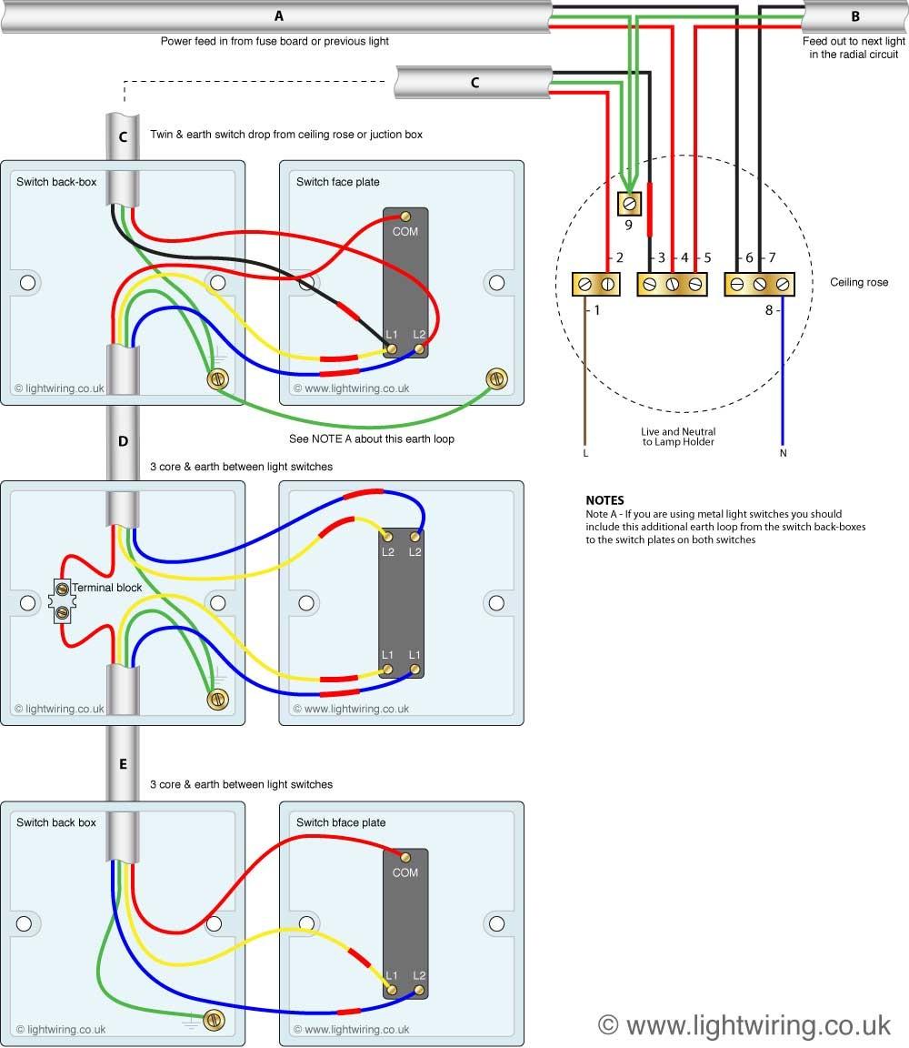 Two Way Lighting Circuit New | Wiring Diagram Image