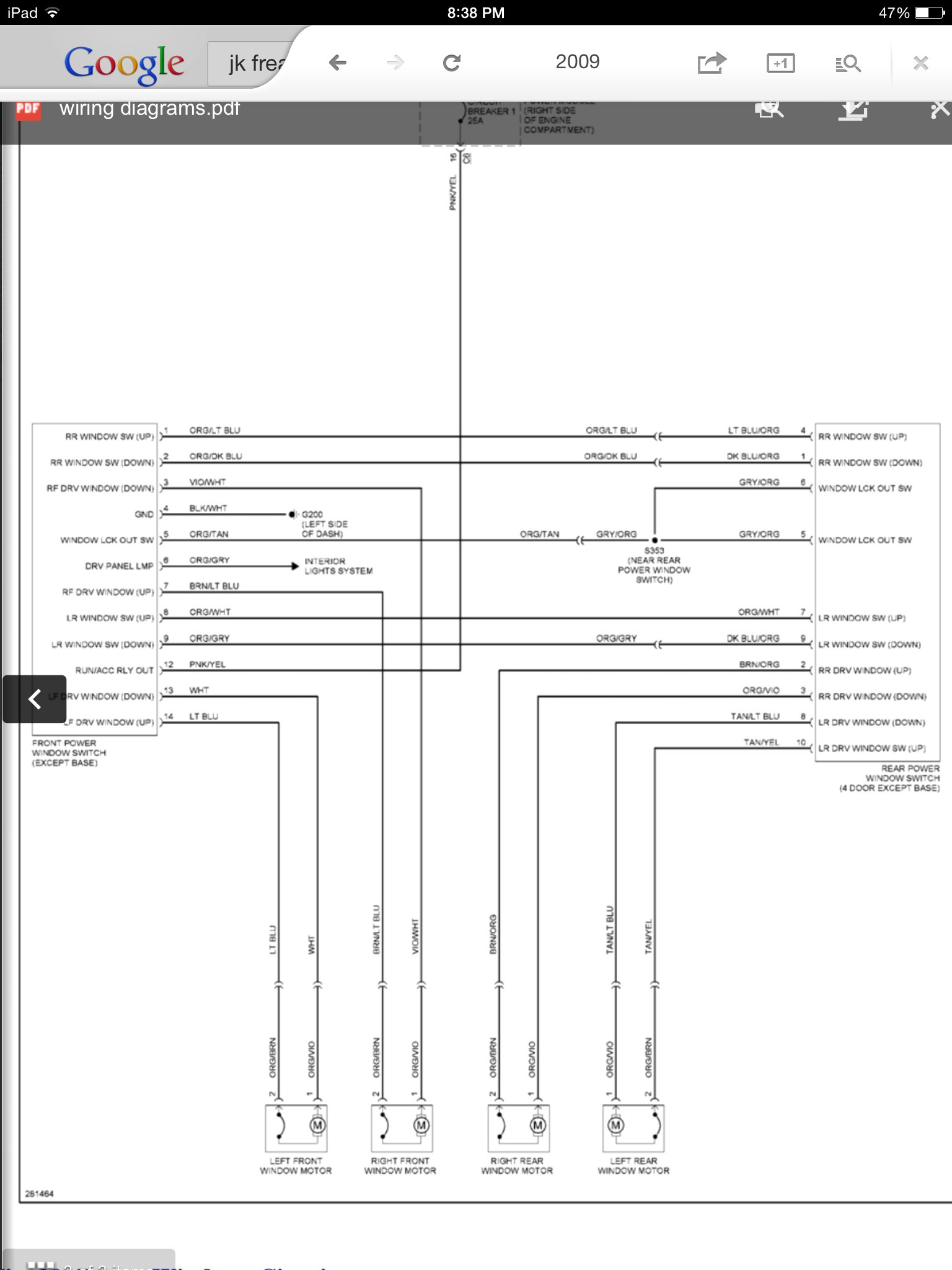 Electric Life Power Window Wiring Diagram