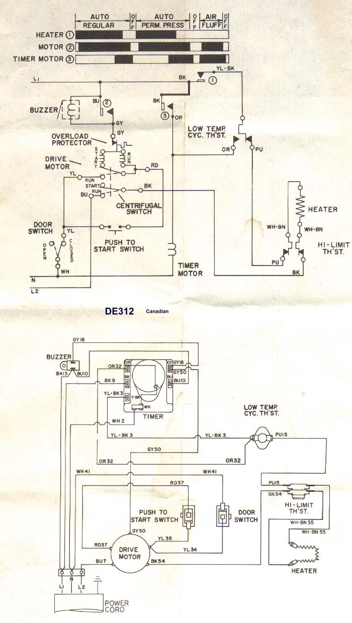 Fantastic Whirlepool Clothes Dryer Wiring Diagram Model Electrical