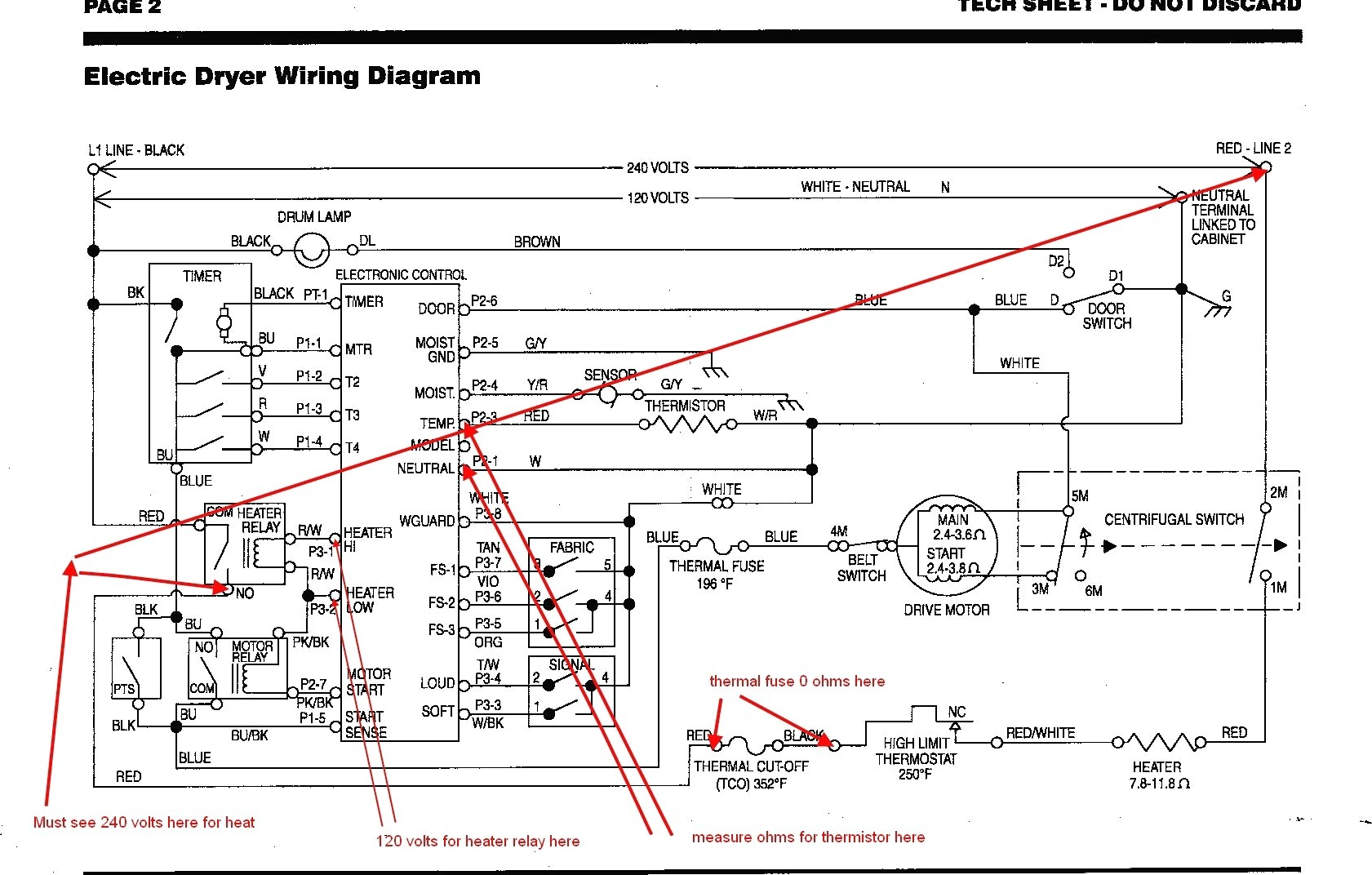 kenmore electric dryer heating element wiring diagram