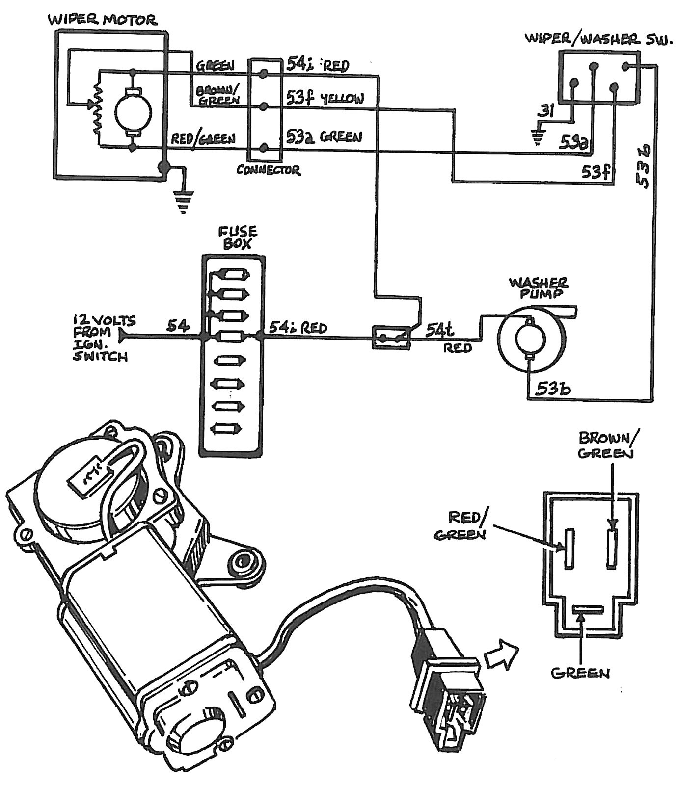 Windshield Wiper Motor Wiring Diagram New Afi Windshield Wiper Motor Wiring Diagram Impremedia Ideas with