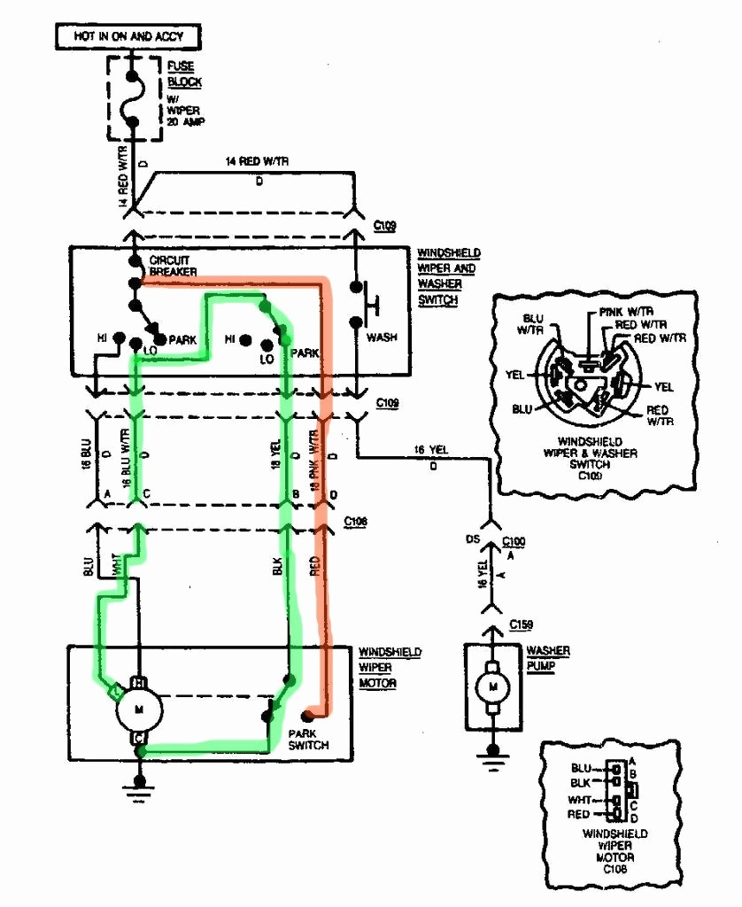 Wiring Diagram Wiper Motor