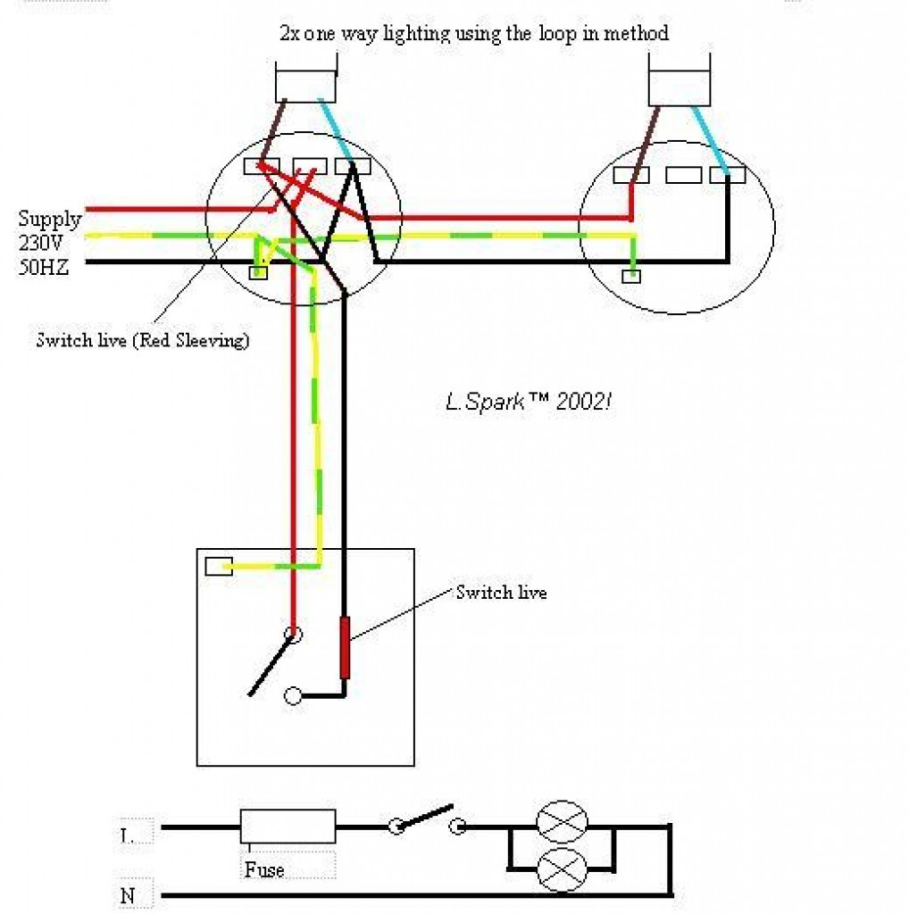 Wiring 2 Lights To 1 Switch Diagram And Schematics Electrical For Way Prepossessing E Light