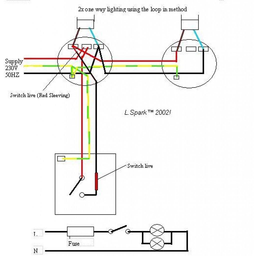 ... Electrical Wiring Diagram 2 Lights 1 Prepossessing e Light Switch
